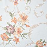 Штора вуаль печать лилии 140х145 см, цвет персик, фото 2