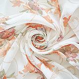 Штора вуаль печать лилии 140х145 см, цвет персик, фото 3