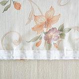 Штора вуаль печать лилии 140х145 см, цвет персик, фото 6