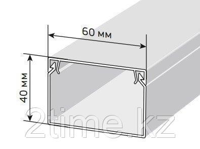 Кабельный канал (Короб с крышкой с направляющими) 60x40