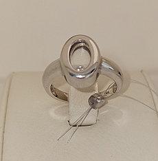 Золотое кольцо с цирконом / 17,5 размер