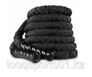 Канат для кроссфита черный спортивный (диаметр 38 мм) 9 метров