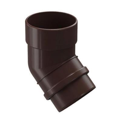 Колено водосточной системы 45/100 DOCKE LUX (Дёке) Коричневый