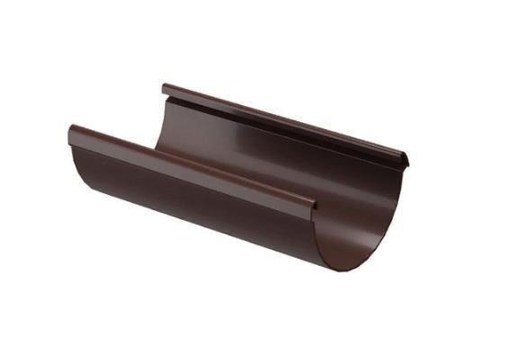 Желоб водосточный 3000 мм DOCKE LUX (Docke) Коричневый Ø141
