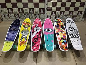 Скейтборд - Пенниборд с ручкой для детей (пластборд), фото 2