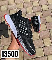 Кроссовки Adidas Cloudfoam черн красн под 033-2, фото 1
