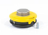 Катушка триммерная полуавтоматическая, легкая заправка лески, гайка M10x1,25, винт M10-M10, алюминиевая кнопка Denzel