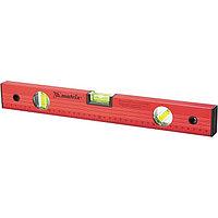 Уровень алюминиевый, 2000 мм, 3 глазка, красный, линейка Matrix