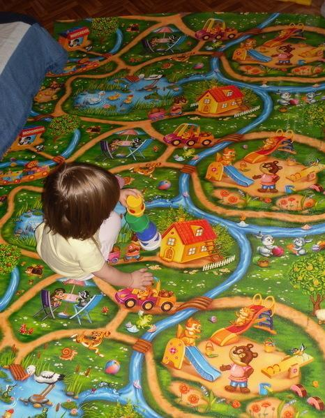 Развивающий коврик рулонный Дороги толщина 5мм - фото 3