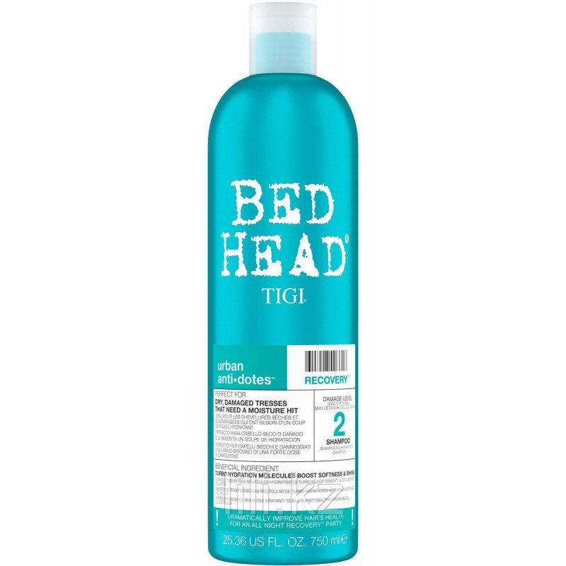 Шампунь для поврежденных волос, уровень 2 - TIGI Bed Head Urban Anti+dotes Recovery 750 мл.