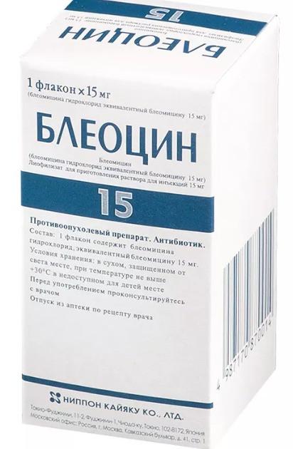 Блеоцин Bleocin (Блеомицин Bleomycin*) лиоф.д/ин.15 мг фл.№1