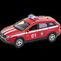 Машинка Lada Vesta SW Cross Пожарная охрана М 1:34-39, Welly