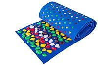 Массажный коврик с камнями, 150 * 40 см, синий