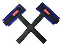 Лямки для тяги кожаные с фиксатором, синие