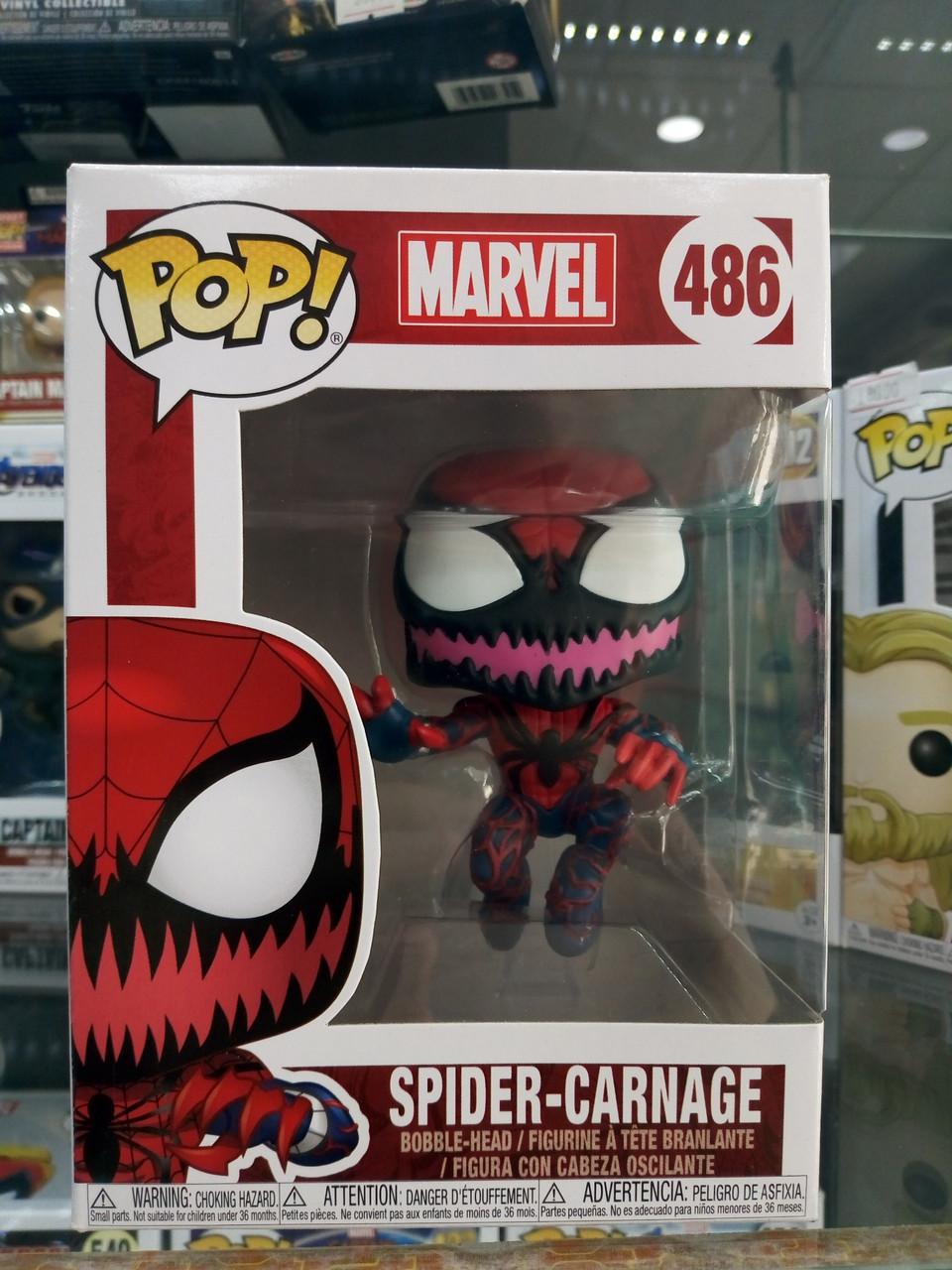 Funko Pop Spider Carnage 486  (Паук-Карнаж)
