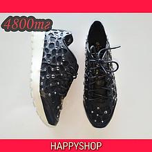 Кроссовки женские черные со стразами 35-40 размер