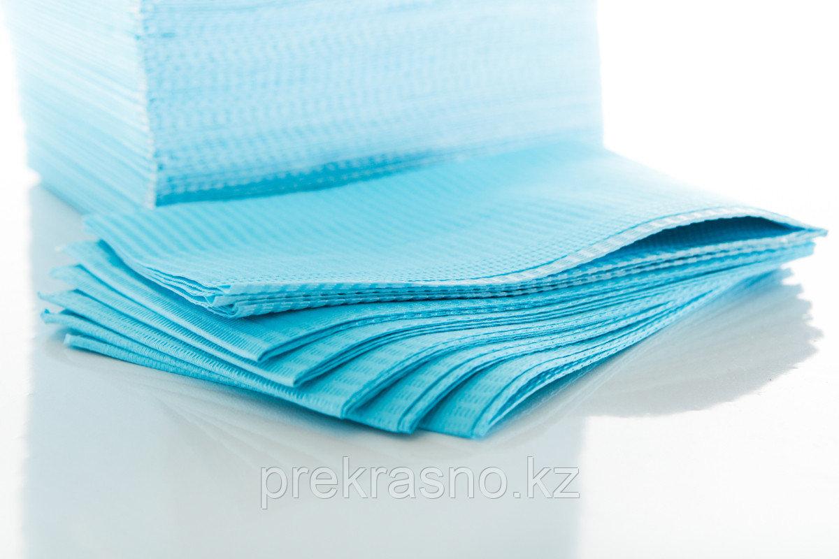Салфетки 33*45 нагрудные ламинированные голубые