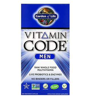 Garden of Life, Vitamin Code, для мужчин, 240 вегетарианских капсул