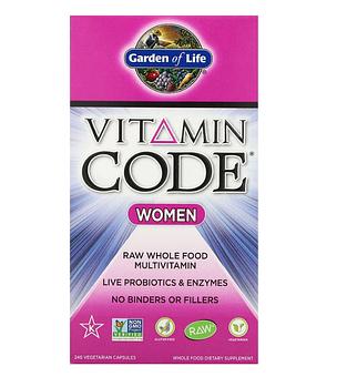 Garden of Life, Vitamin Code, для женщин, 240 вегетарианских капсул