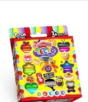 Набор креативного творчества «Тесто для лепки MASTER DO» коробка эконом 12 цв. 240г.(20)