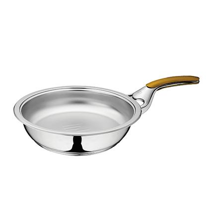 Сковорода 2,5 л, диаметр 24 см, высота 6 см, с 1 ручкой, без крышки, URA