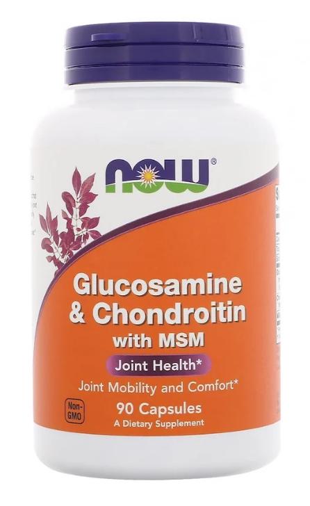 Now Foods, Глюкозамин и хондроитин с MSM, 90 капсул