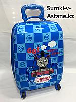 Детский чемодан на колесах для мальчика с 4-х до 7-и лет.Высота 45 см, длина 30 см, ширина 21 см., фото 1