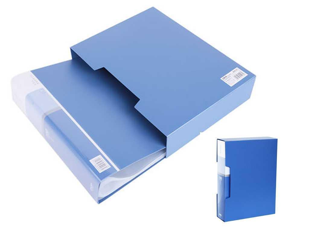 """Папка с файлами DELI """"Plus"""" на 100 вкладышей, 1,0 мм, в боксе, ассорти"""