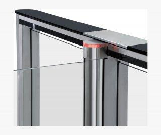 PERCo-STС-01GS комплект крышек из закаленного стекла с вставкой из нержавеющей стали