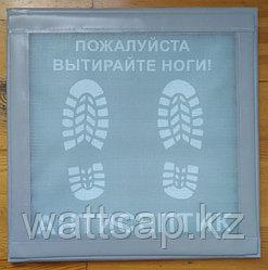 Дезинфицирующий коврик для дезинфекции обуви дезбарьер, прошитый 50x50x2