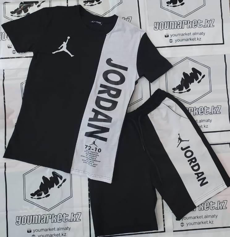 Спортивный костюм Jordan Black\White, шорты, футболка