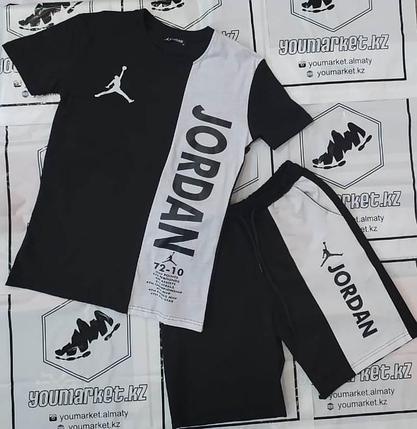 Спортивный костюм Jordan Black\White, шорты, футболка, фото 2