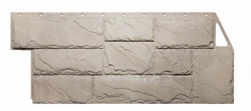 Фасадные панели Песочный 1080x452 мм (0,41 м2) Камень крупный FINEBER