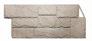 Фасадные панели Бежевый 1080x452 мм Крупный камень FINEBER