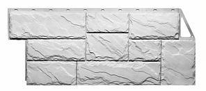 Фасадные панели Мелованный белый 1080x452 мм  Крупный камень FINEBER