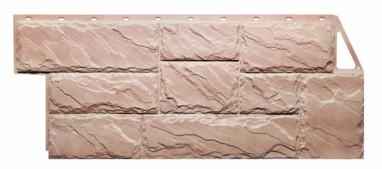 Фасадные панели Терракотовый 1080x452 мм Крупный камень FINEBER
