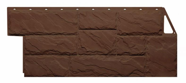 Фасадные панели Коричневый 1080x452 мм Крупный камень FINEBER