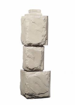 Угол Наружный Бежевый 452 мм Крупный камень FINEBER