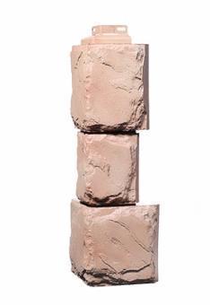 Угол Наружный Красный 459х140х140 мм Крупный камень FINEBER