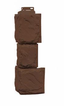 Угол Наружный Коричневый 459х140х140 мм Камень крупный FINEBER