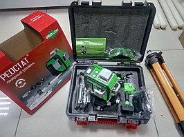 Лазерный уровень Реостат 4D + штатив, зеленый луч.
