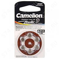 Батарейка Camelion ZA 312 для слуховых аппаратов