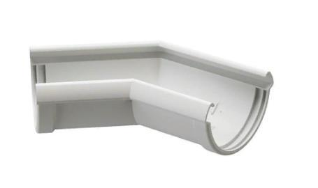 Угол желоба 135/100 DOCKE LUX (Дёке) Белый