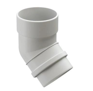 Колено водосточной системы 45/100  DOCKE LUX (Дёке) Белый