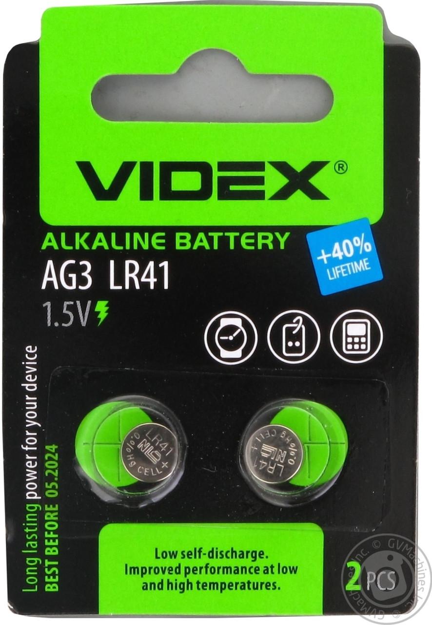 Батарейка часовая AG3  LR41  VIDEX