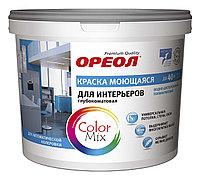 Краска водорастворимая ВДАК интерьерная моющаяся глубокоматовая (база А), 3.3кг (2.2л), Ореол Дисконт