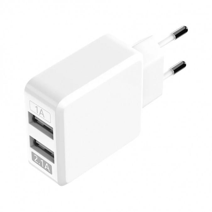 Сетевое зарядное устройство OLMIO USB 2.1A, 2USB