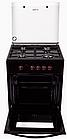 Плита газовая Greta 600 16 (чугуная решетка) с турбогорелкой (коричневая), фото 2
