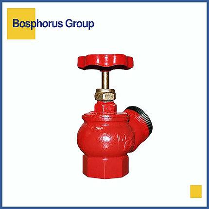 Кран (клапан) пожарный чугунный муфта-цапка Ду 65 (КНР), фото 2