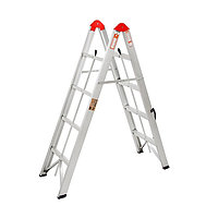 Лестница-стремянка двухсекционная TUNDRA, 2 х 4 ступени, алюминиевая, складная